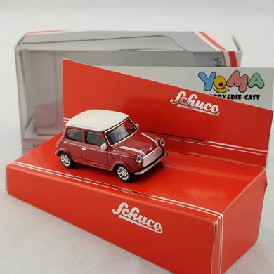 Schuco 1/64 Mini Cooper red-white Diecast Model Car 452011700