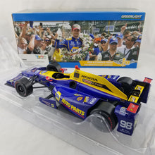 GreenLight 1/18 2016 IndyCar Series #98 Alexander Rossi / Andretti Herta Autosport with Curb Agajanian, NAPA Auto Parts / 2016 Indianapolis 500 Champion Diecast Model Car 10992