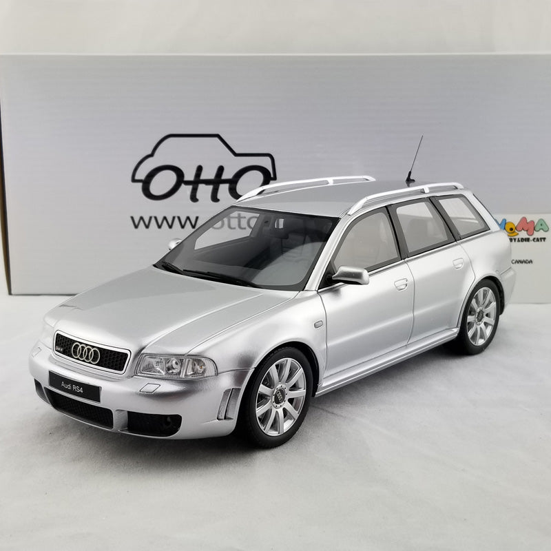 OTTO 1/18 Audi A4 RS4 B5 Avant In Silver Resin Model Car