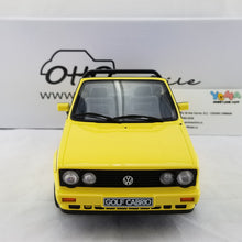 OTTO 1/18 Volkswagen Golf Cabriolet Young Line 1981 Yellow Resin Model Car OT693