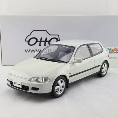 OTTO 1/18 Honda Civic SiR II Frost White Resin Model Car OT229