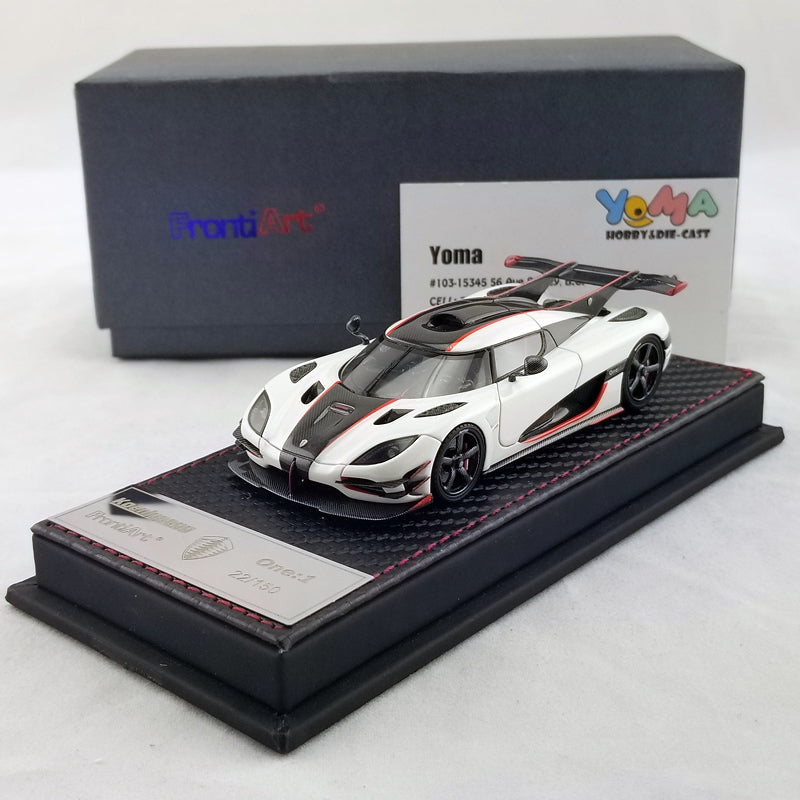 Frontiart 1/43 koenigsegg one 1 white/red F038-02B