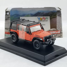 GreenLight 1/43 2015 Jeep Wrangler Unlimited Willy's Wheeler Edition - Sunset Orange Metallic with Off-Road Bumpers and Roll Cage Diecast Model Car 86088