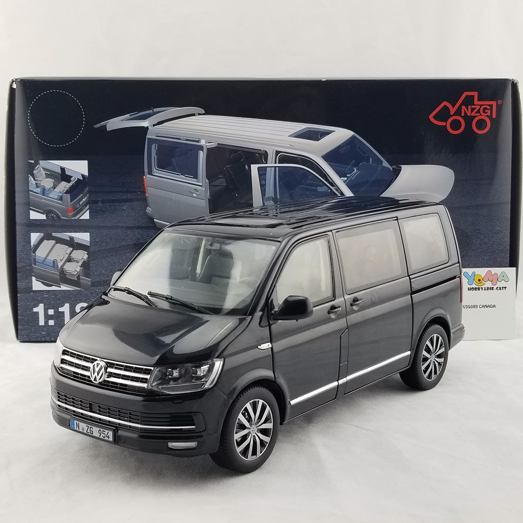 NZG 1/18 VOLKSWAGEN T6 MULTIVAN HIGHLINE MINIBUS 2017 Diecast Model Car 954/50