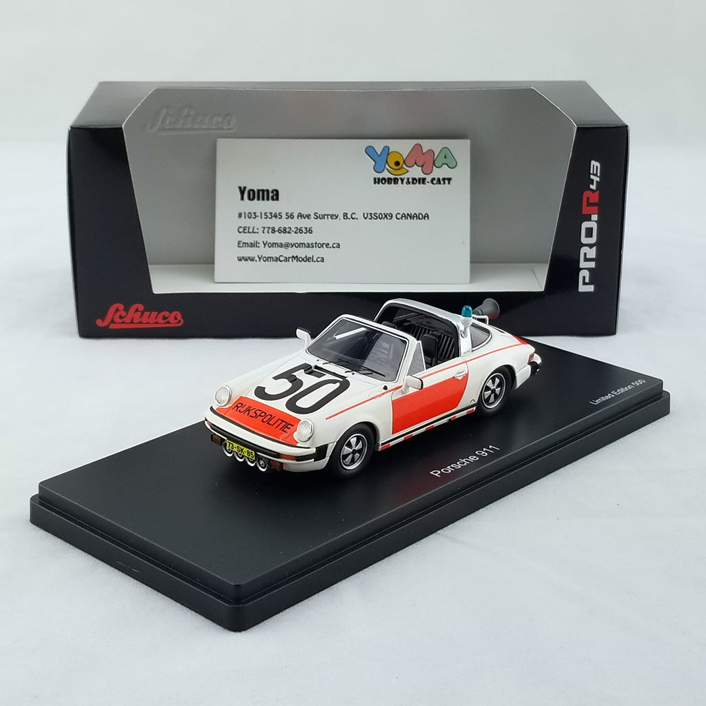 Schuco 1/43 Porsche 911 Targa National police Limited 500 Resin Model Car 450891400