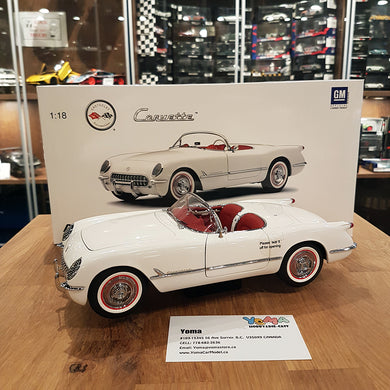 AUTOART 1/18 CHEVROLET CORVETTE 1953 POLO WHITE 71081