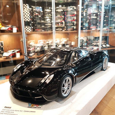 AUTOART 1/12 PAGANI HUAYRA (GLOSS BLACK & SILVER STRIPES W/SILVER WHEELS) 12233