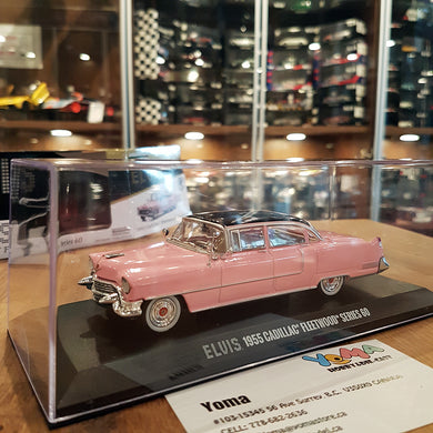 GreenLight 1/43 Elvis Presley 1955 Cadillac Fleetwood Series 60 Pink Green Machine Chase 86491
