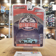 GreenLight 1/64 Green Machine Ford GT Racing Heritage Series 1 - 2017 Ford GT 1966 #1 Ford GT40 Mk II Tribute 13200-B