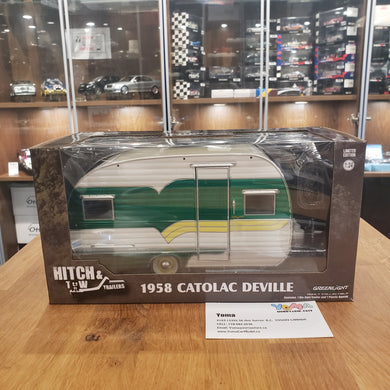 GreenLight 1/24 Green Machine Hitch & Tow Trailers Series 5 - 1958 Catolac DeVille Travel Trailer 18450-A