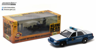 GreenLight 1/18 2001 Ford Crown Victoria Police Interceptor The Walking Dead 12957