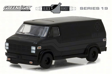 GreenLight 1/64 Black Bandit Series 19 - 1980 GMC Vandura 27950-C