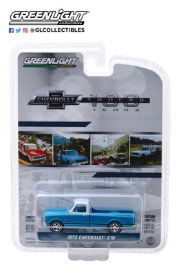 GreenLight 1/64 Anniversary Collection Series 7 - 1972 Chevrolet C-10 100th Anniversary of Chevy Trucks 27970-C