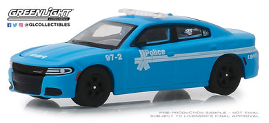 GreenLight 1/64 Anniversary Collection Series 8 - 2018 Dodge Charger - Montreal, Canada Police 175th Anniversary 27980-E