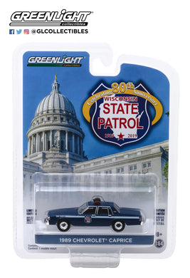 GreenLight 1:64 Anniversary Collection Series 9 - 1989 Chevrolet Caprice - Wisconsin State Patrol 80th Anniversary 28000-D