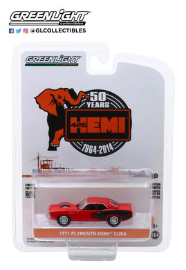 GreenLight 1:64 Anniversary Collection Series 9 - 1971 Plymouth HEMI Cuda - 426 HEMI 50 Years 28000-E