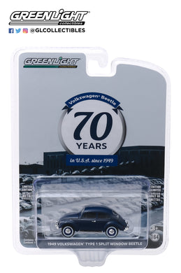 GreenLight 1:64 Anniversary Collection Series 10 - 1949 Volkswagen Type 1 Split Window Beetle - First Beetle Landing in USA 70th Anniversary 28020-A