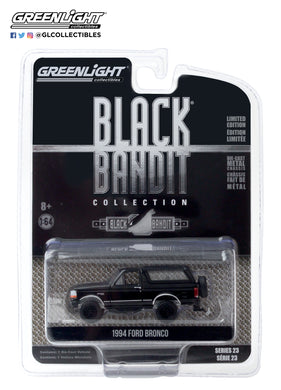 GreenLight 1:64 Black Bandit Series 23 - 1994 Ford Bronco 28030-F