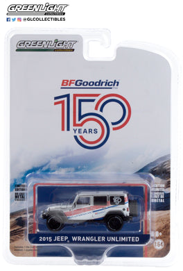 GreenLight 1:64 Anniversary Collection Series 11 - 2015 Jeep Wrangler Unlimited - BFGoodrich 150th Anniversary 28040-C