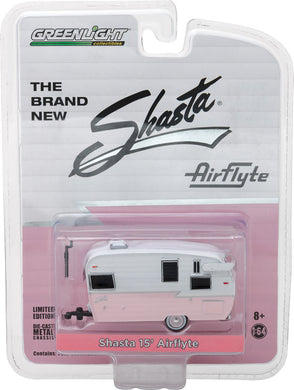GreenLight 1/64 Shasta 15 inch Airflyte - Pink Diecast Model Car 29877