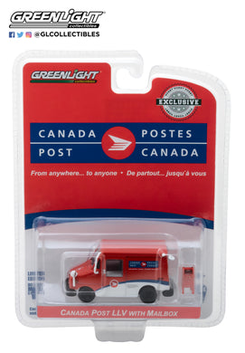 GreenLight 1:64 Canada Post Long-Life Postal Delivery Vehicle (LLV) with Mailbox Accessory 29889