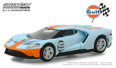 GreenLight 1/64 2019 Ford GT - Ford GT Heritage Edition - #9 Gulf Racing 29909