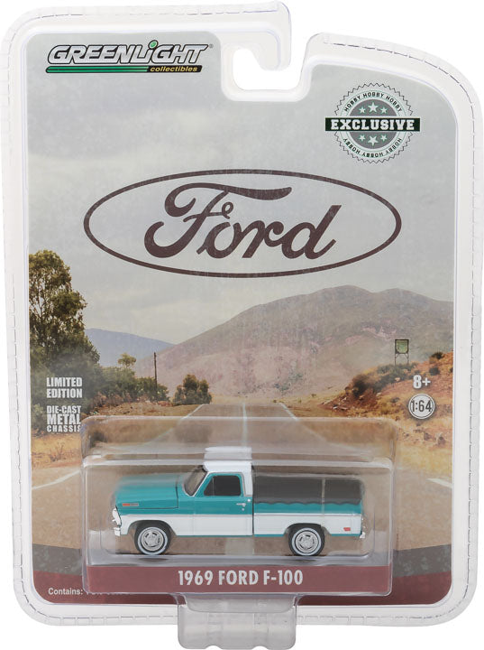 GreenLight 1/64 1969 Ford F-100 with Bed Cover 29924