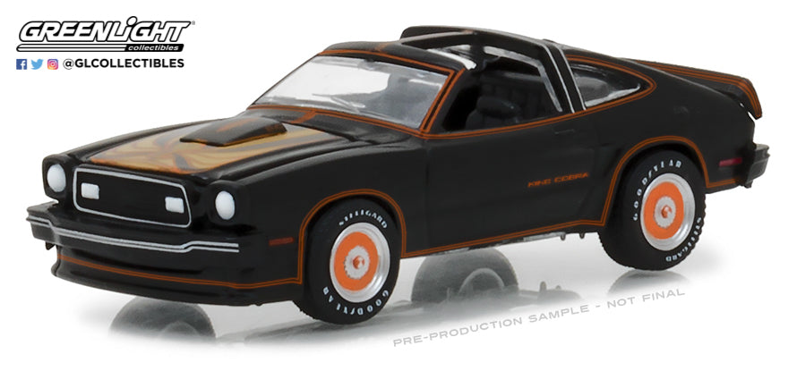 GreenLight 1/64 1978 Ford Mustang II King Cobra - Black & Gold 29937