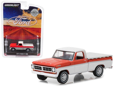 GreenLight 1/64 1971 Ford F-100 with Bed Cover 29957