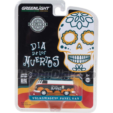GreenLight 1/64 Volkswagen Type 2 Panel Van - Dia de los Muertos 2018 29958