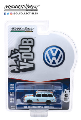 GreenLight 1/64 Club V-Dub Series 9 - 1965 Volkswagen Type 3 Squareback with Roof Rack - Gulf Oil 29960-C