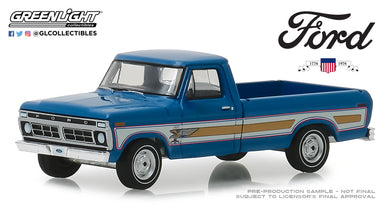 GreenLight 1/64 1976 Ford F-100 Bicentennial Option Group - Bahama Blue 29966