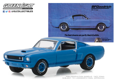 GreenLight 1/64 BFGoodrich Vintage Ad Cars - 1966 Ford Shelby GT350 The Best Dreams Are Partly Black & White 29975