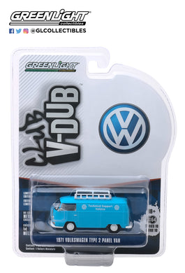 GreenLight 1:64 Club Vee-Dub Series 10 - 1971 Volkswagen Type 2 Panel Van - VW Technical Support Vehicle 29980-A