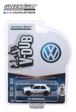 GreenLight 1:64 Club Vee-Dub Series 10 - 1974 Volkswagen Golf - #9 Gulf Oil 29980-C