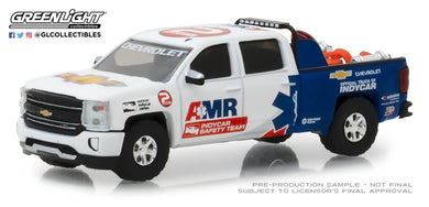 GreenLight 1/64 2018 Chevrolet Silverado - AMR IndyCar Safety Team with Safety Equipment in Truck Bed 29991