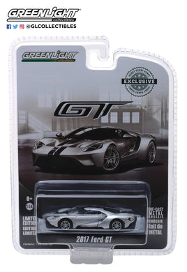 GreenLight 1/64 2017 Ford GT - Ingot Silver with Black Stripes 29992