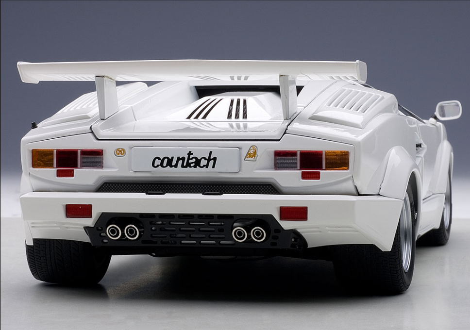 Autoart 1 18 Lamborghini Countach 25th Anniversary Edition White