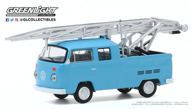 GreenLight 1:64 Club Vee-Dub Series 11 - 1973 Volkswagen Type 2 Double Cab Pickup Ladder Truck 30000-D