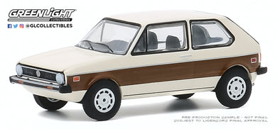 GreenLight 1:64 Club Vee-Dub Series 11 - 1977 Volkswagen Rabbit with Woody Graphics 30000-E