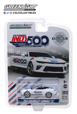 GreenLight 1/64 2017 Chevrolet Camaro Convertible - 101 Running Indy 500 Presented by PennGrade Motor Oil 500 Festival Event Car 30003