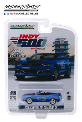 GreenLight 1/64 2018 Chevrolet Camaro Convertible - 102nd Indy 500 Presented by PennGrade Motor Oil 500 Festival Event Car 30004
