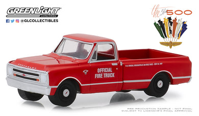 GreenLight 1/64 1967 Chevrolet C-10 51st Annual Indianapolis 500 Mile Race Official Fire Truck 30030