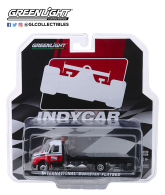 GreenLight 1/64 2019 International Durastar 4400 IndyCar Series Flatbed Truck 30033