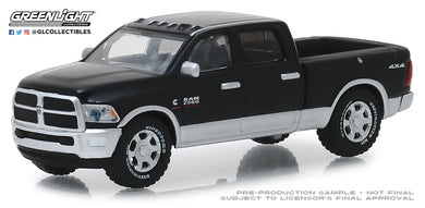 GreenLight 1/64 2018 Dodge Ram 2500 Big Horn - Harvest Edition - Brilliant Black and Bright Silver 30047