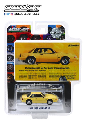 GreenLight 1:64 BFGoodrich Vintage Ad Cars - 1988 Ford Mustang 5.0 Our Engineering Lab Has A New Smoking Section 30062