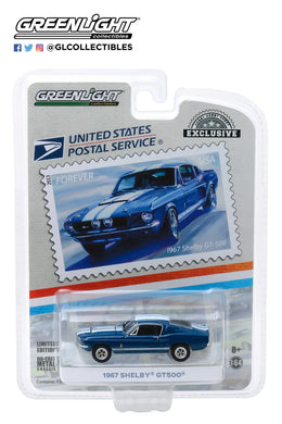 GreenLight 1:64 1967 Ford Shelby GT500 - United States Postal Service (USPS) America on the Move: Muscle Cars 30067