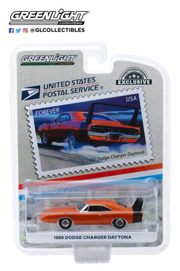 GreenLight 1:64 1969 Dodge Charger Daytona - United States Postal Service (USPS) America on the Move: Muscle Cars 30068