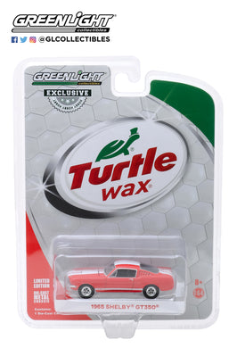 GreenLight 1:64 Turtle Wax Ad Cars - 1965 Shelby GT350 Wax Before You Ride 30072