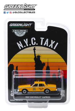 GreenLight 1:64 1987 Chevrolet Caprice New York City Taxi Cab 30077